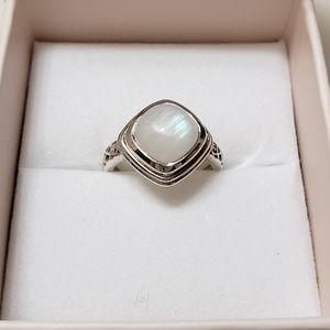 925 Rainbow Moonstone Ring